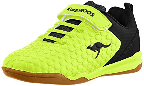 KangaROOS Unisex-Kinder Speed Court EV Sneaker, Gelb (Neon Yellow/Jet Black 7013), 27 EU