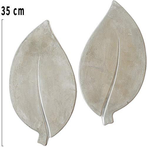 matches21 XXL Trittsteine große Blätter Blatt-Form 4 Paar (8 STK.) Tritt-Steine Beton Garten 35x18 cm dekorative Tretsteine
