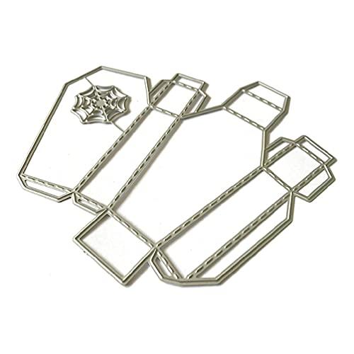 Caja de tela de araña de Halloween troqueles de corte de metal plantilla para álbum de recortes álbum de bricolaje sello tarjeta de papel decoración en relieve caja de troqueles de corte