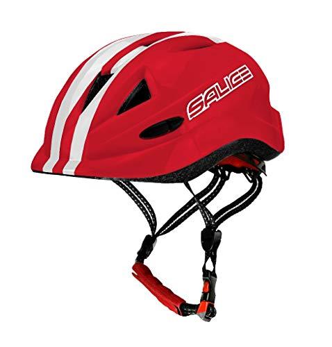 salice Casco para Bicicleta Junior TG.46 – 54 Rojo Unisex