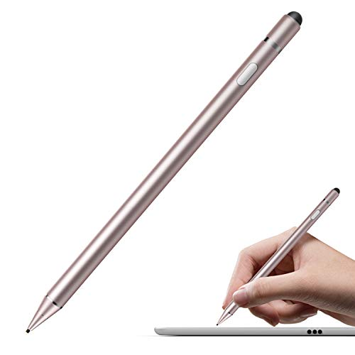 MoKo 1.5mm Active Stylus Pen, High Precision Sensitivity Capacitive Pen Universal Metal Stylus Pencil Fit with iPad Pro 10.5/iPad 9.7 2018/iPad 9.7 2017 - Rose Gold