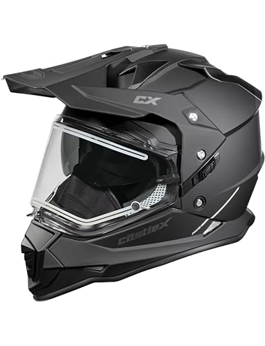 CastleX Mode D/S SV Dual Sport Electric Snowmobile Helmet in Matte Black, Size X-Large