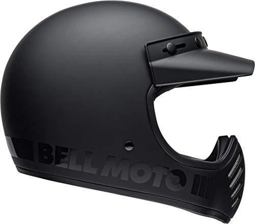 casco moto 3 BELL MOTO-3 BLACKOUT HELMET MATTE/GLOSS BLACK M