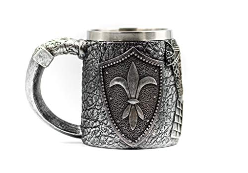 Acme Approved Knights of the Table Mug Gothic Tribal Skull Tankard Coffee,Wine,Water Mug Cup Creepy