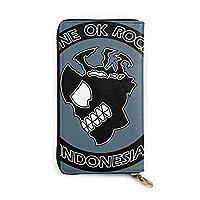 ワンオク ロック One Ok Rock (7) ウォレット 財布 大容量 メンズ 財布 多機能 革小銭入れ 男女通用 長財布 おしゃれ レザー ウンドファスナーウォレット 携帯に便利 高級感 である ロングウォレット