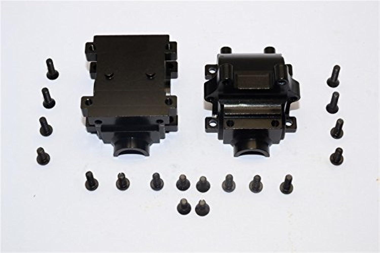 Team Losi Mini 8ight Upgrade Parts Aluminum Rear Gear Box - 2Pcs Set Black