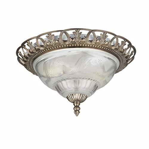 Deckenleuchte in Bronze Jugendstil 2xE14 bis zu 60 Watt 230V aus Metall & Glas Schlafzimmer Küche Esszimmer Lampe Leuchten Beleuchtung innen