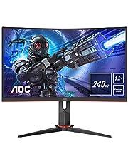 """AOC Gaming C32G2ZE – 32"""" monitor FHD Curved 240 Hz, 1 ms, FreeSync Premium (1920 x 1080, HDMI, DisplayPort) czarny/czerwony"""