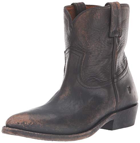 Frye Women's Billy Short Western Boot, Black Full Grain Brush Off, 7.5