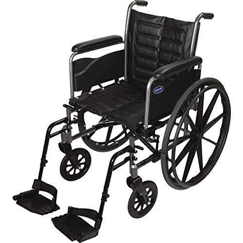 Invacare Tracer EX2 Wheelchair for Adults   Standard Folding  20 Inch Seat   Footrests & Full Arms