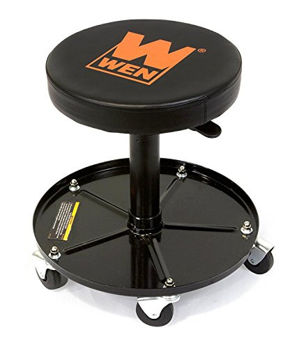 WEN 73012 300 lb Capacity Pneumatic Rolling Mechanic Stool (Limited Edition)