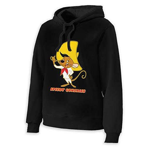 MichaelRoberson Speedy Gonzales Womens Hooded Sweatshirt Womans Cool Hoodie Pullover XL Black