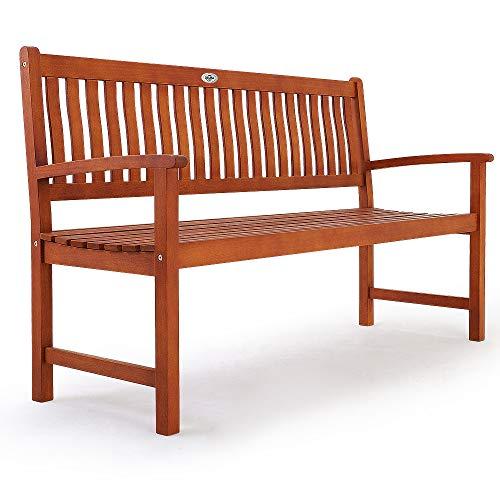 Deuba Gartenbank Maxima 3-Sitzer FSC®-zertifiziertes Eukalyptusholz In- & Outdoor Holzbank Sitzbank Parkbank Bank - 6