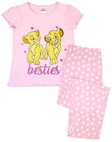 Larga Pijama Rosa de Disney Rey  león Simba y Nala