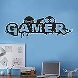 Euone Wandsticker, Gamer-Motiv, entfernbar,