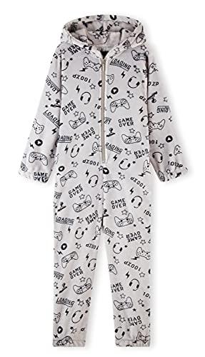 CityComfort Pijama Entero Niño con Capucha, Pijama Mono de Forro Polar, Pijama Niño Diseño Gamer,...