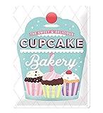 Nostalgic-Art Cartel de Chapa Retro Home & Country – Cupcake Bakery – Idea de Regalo para la Cocina, metálico, Diseño Vintage Decorativo, 30 x 40 cm
