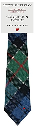 I Luv Ltd Garçon Tout Cravate en Laine Tissé et Fabriqué en Ecosse à Colquhoun Ancient Tartan