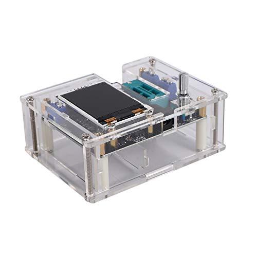 Fltaheroo Probador de Transistores Ensamblado Completo Mega328 Medidor de Capacitancia de Diodo Medidor de ESR Generador de Se?Al de Frecuencia de Onda Cuadrada PWM