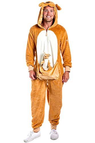 Tipsy Elves' Men's Kangaroo Costume - Brown...