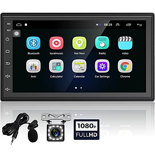 Podofo Autoradio Android, Autoradio Touch Screen ad Alta Definizione 2 Din da 6,8 Pollici, Lettore Multimediale per Auto Supporta USB WIFI BT, Lettore per Auto MP5 con Fotocamera Posteriore