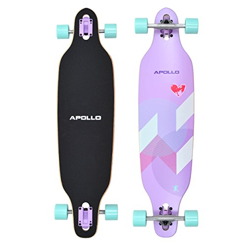 Apollo Longboard Tamana Komplettboard mit High Speed ABEC Kugellagern, Drop Through Freeride Skaten Cruiser Board