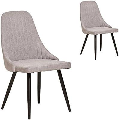 Lot de 2 Chaises de salle à manger de style scandinave, avec