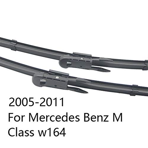 Scheibenwischer Wischerblätter for Mercedes Benz M Klasse W164 W166 ML 280 300 320 250 350 400 420 450 550 63 AMG CDI (Color : 2005-2011 for w164)