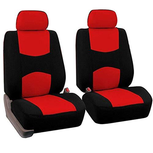 KKmoon Coprisedile per Auto, 1 Paio di Proteggi Sedile Anteriore Universale per Auto Poggiatesta e Pad Pieno Circondare Adatto per la Maggior Parte di Auto, Camion, SUV, Furgoni, Rosso