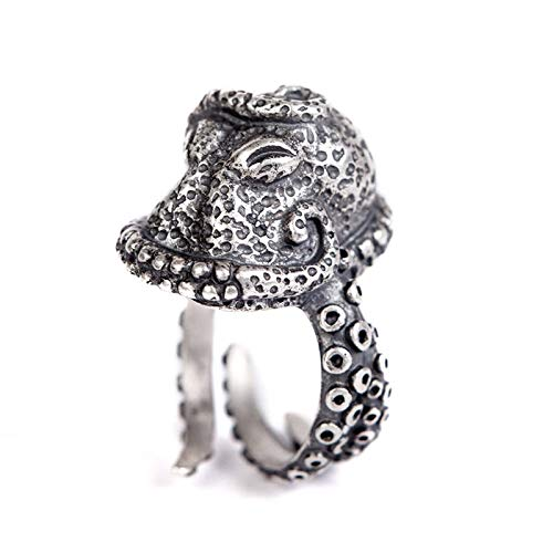 Iony Ajustables Anillos para Mujer Hombre,Vintage Gothic Pun