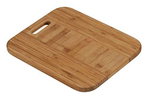 Premier Housewares 1103931 Tagliere con Manico di bambù, 34x29 cm