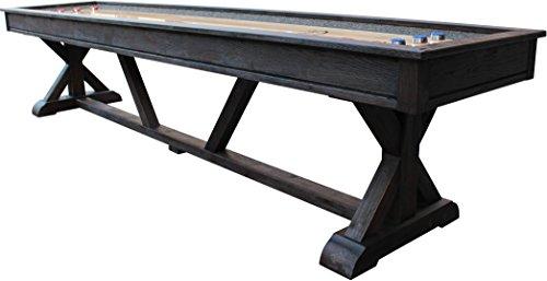 Playcraft Brazos River 12' Weathered Black Pro-Style Shuffleboard Table