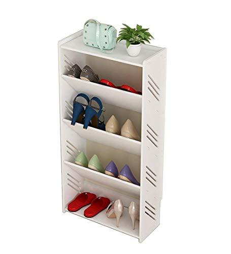 BRFDC Zapatero Dongy Shoe Rack inclinación diseño del triángulo Resistente a la Humedad Montaje fácil y Elegante Moderno de múltiples Funciones, Blanco (Size : 40cm)