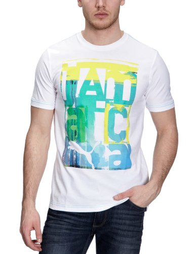PUMA - Camiseta de Running para Hombre, tamaño XL, Color Blanco