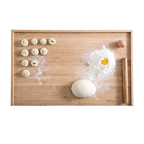 MNSSRN Tableros de Corte de Paneles y de Paneles, Tableros de Corte Grandes Bambú No Palanca Anti-craqueo Anti-craqueo Cocina de Cocina de Doble Cara,70 * 45cm