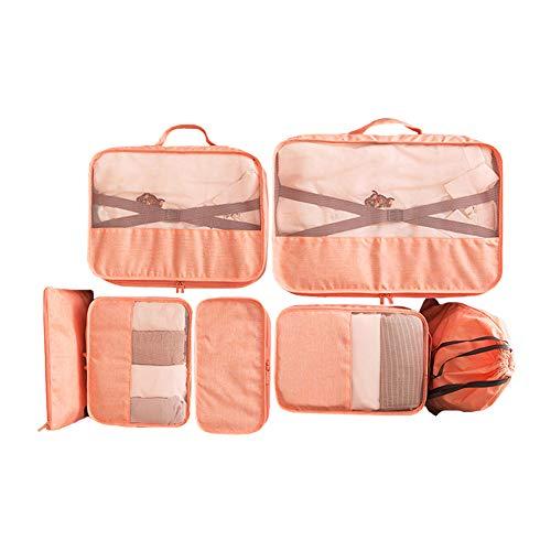 Elezay - Juego de 7 organizadores de equipaje para accesorios de viaje, naranja (Naranja) - HSSNB2001B-Orange