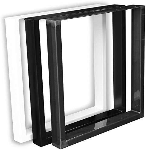 1 Paar (2 Stück) BestLoft ® Kufen Tischkufen Industriedesign Tischgestell Tischuntergestell Tischkufe Kufengestell (B: 64 x H: 40 cm (Couchtisch), Schwarz Pulverbeschichtet (RAL 9005))