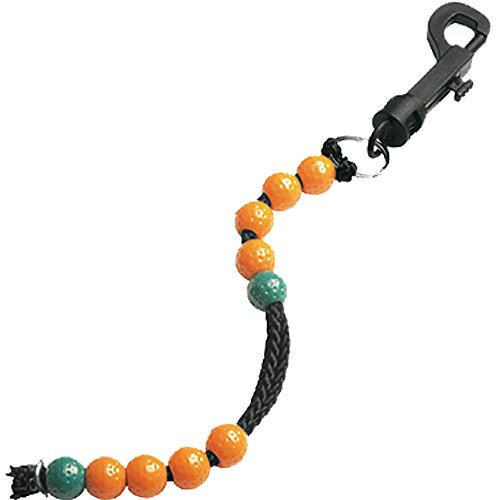 Beadcounter (orange/grün) - Zählschnur | Scorer | Scorezähler mit Karabiner für Bag, Trolley oder die Hose
