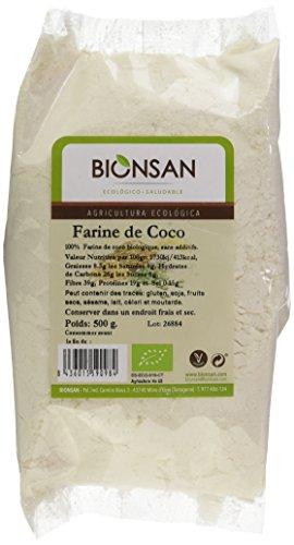 Harina de Coco Ecológica   3 Paquetes de 500 gr   Total: 1500 gr