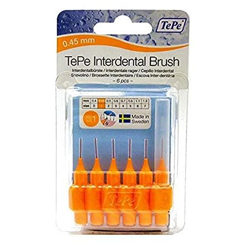 TePe Blisterverpackung Interdentalbürsten orange 0,45mm, 1 Packung, 6Stück