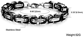 2015 Fashion Titanium Steel Individual Cool Black Chain Men Bracelet as Gift for Male b9 GS711