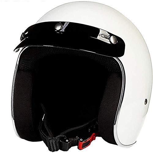 ZHXH Kremmer Urinal Motorradhelm Fiberglas mattschwarz 3/4 Cruiser Aufkleber Pilotenhelm DOT Harley Helm Retro Visier Reisehelm Harley Fahrradhelm (optionale Farbe)
