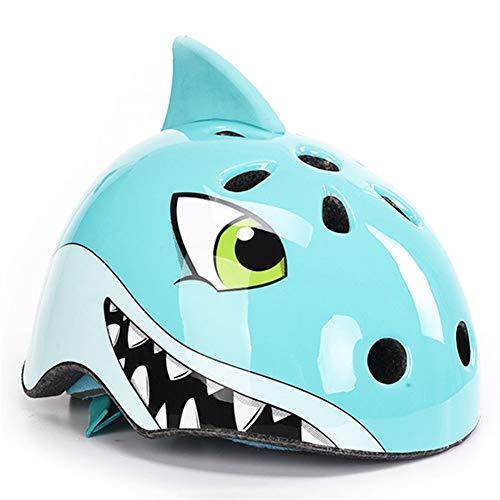 LHY KIDS SPORT Casco de Bicicleta para niñas/niños/niños, Casco de Bicicleta Shark...