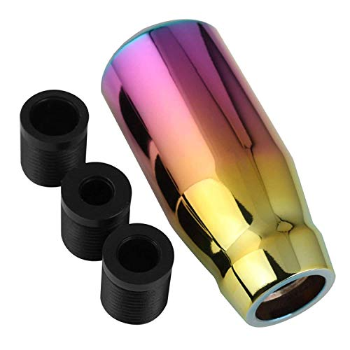 Pomo Palanca Cambios para Coche Universal Manual,5 Marchas con 3 Adaptadores - 8mm 10mm 12mm