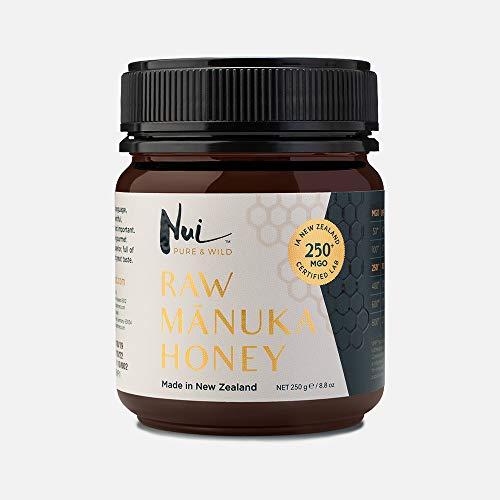 NUI miel de manuka MGO 250+ (UMF 10 +) de Nueva Zelanda | Para una inmunidad fuerte | 250 g