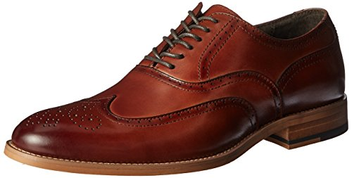STACY ADAMS Men's Dunbar-Wingtip Oxford, Cognac, 9 M US