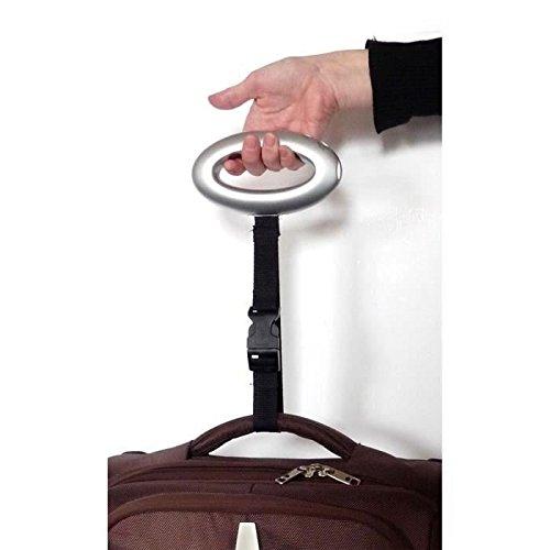 AIC International 23378-Bilancia pesa bagaglio, in plastica/ABS, argentato, 3 x 8,5 x 15,5 cm
