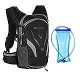 Jayehoze Trinkrucksack mit 2L Trinkblase Leichte Isolierung Wasserrucksack Rucksack Blasentasche Radfahren Fahrrad Fahrrad/Wandern Klettertasche gently