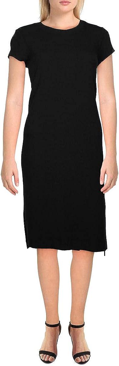 Splendid Womens Ribbed Hi-Low Casual Dress