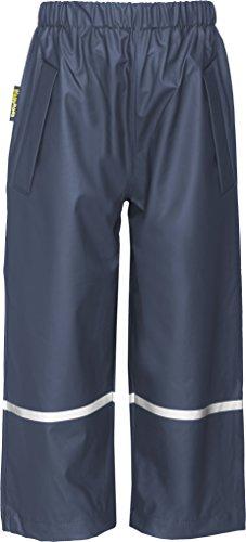 Playshoes Kinder Regenhose, Buddelhose zum Überziehen für Mädchen und Jungen, Bundhose, wind- und wasserdicht, Blau (11 marine ), 104